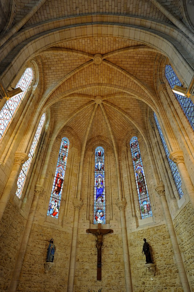 Stock Photo: 1606-109082 France, Aquitaine, Gironde, Carcans, St Martin de Carcans church