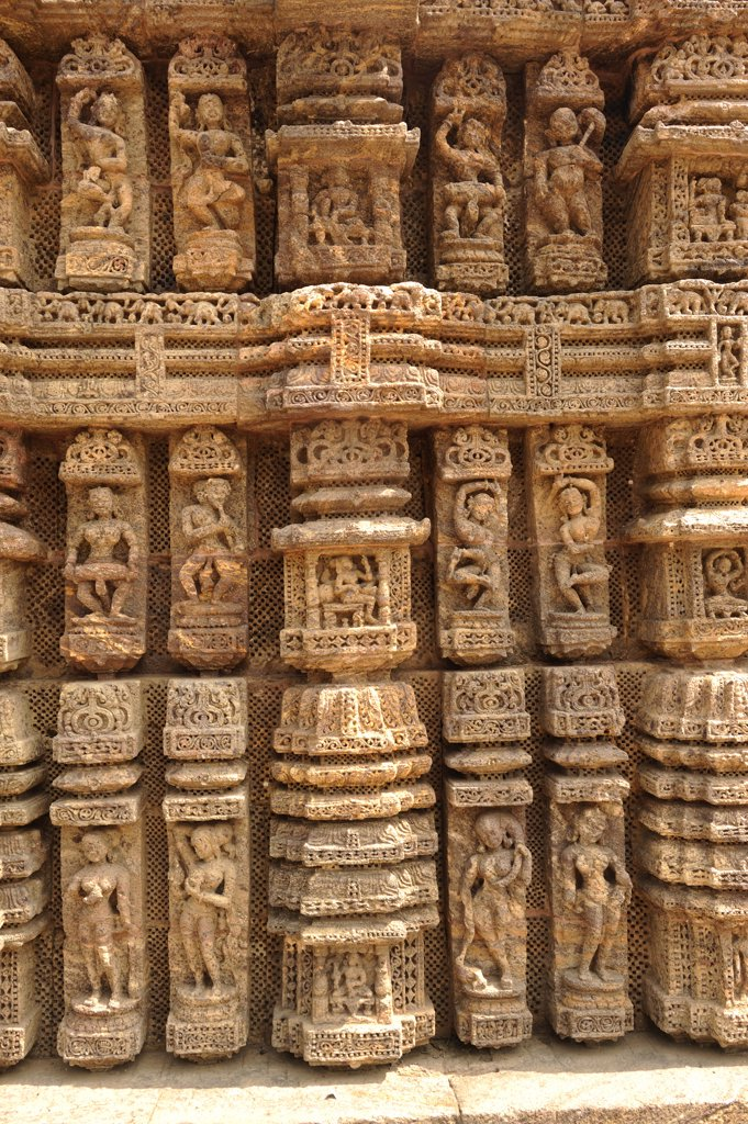 India, Orissa, Konark Sun Temple : Stock Photo