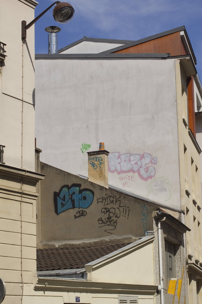 France, Paris, 20th arrondissement, rue des Envierges : Stock Photo