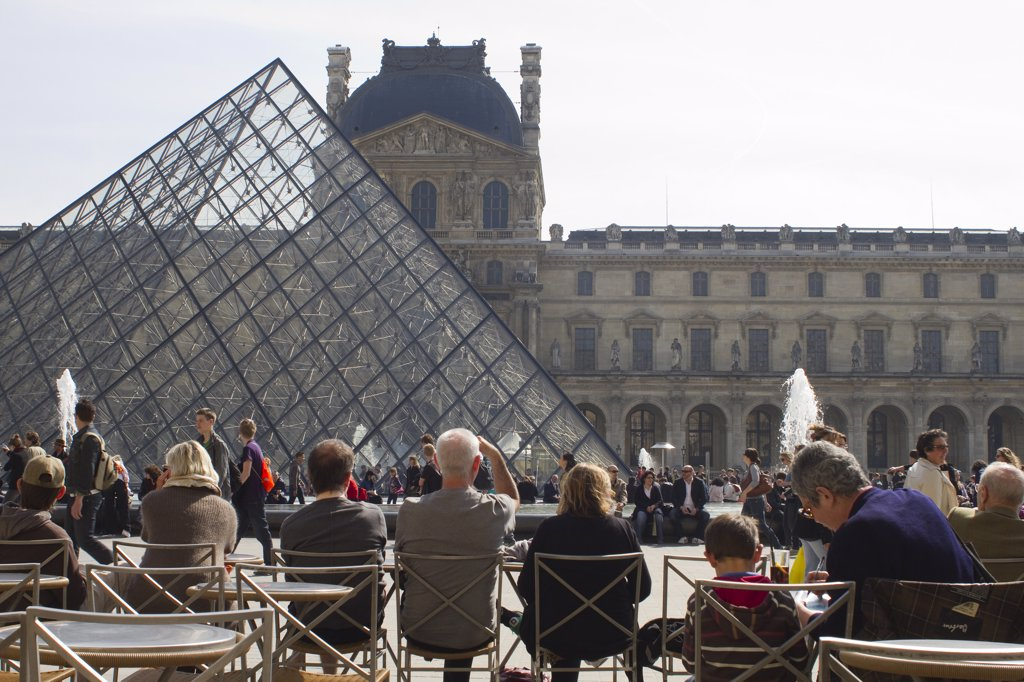France, Paris, 1st arrondissement, Louvre museum : Stock Photo