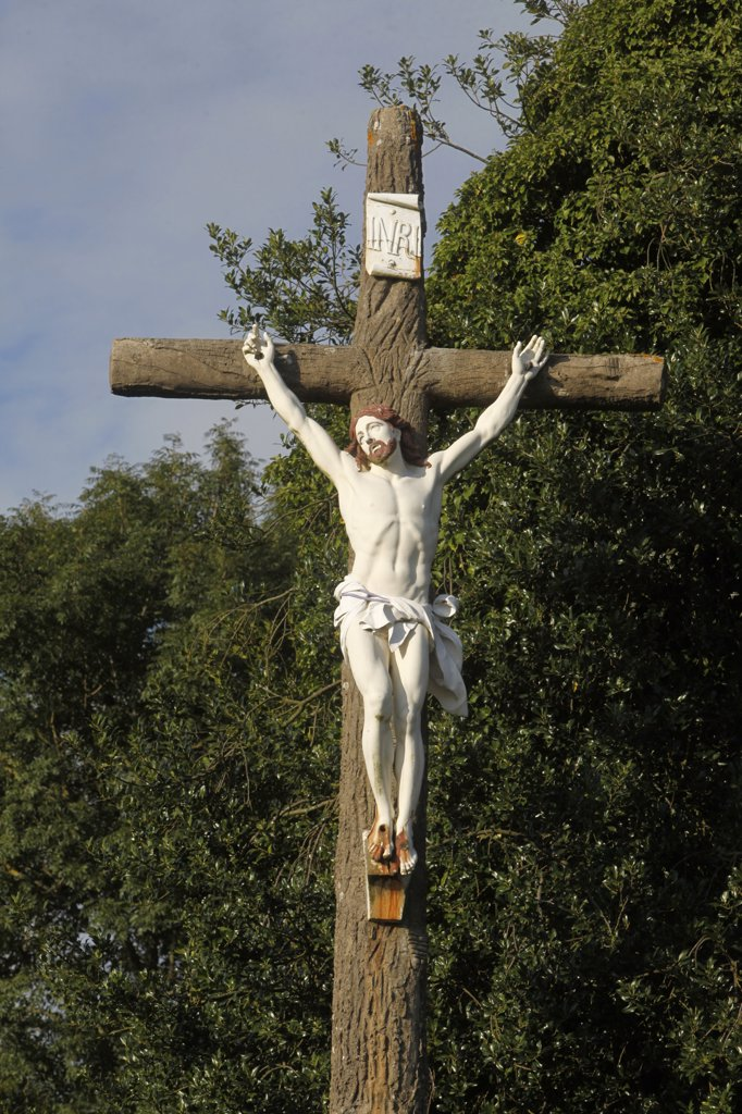 Stock Photo: 1606-111741 France, Calvados, Calvary in Normandy