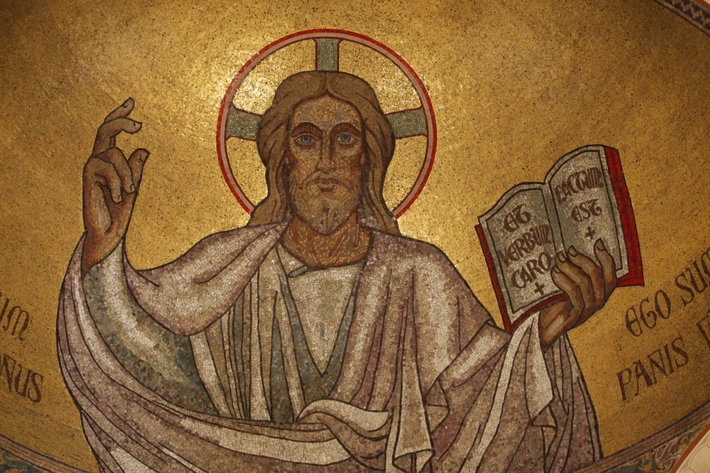 Stock Photo: 1606-111808 France, Paris, Paris, France Pantocrator Christ in Saint-Pierre-de-Montrouge church