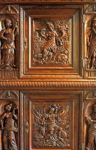 Stock Photo: 1606-11230 France, Centre, Indre-et-Loire, Azay-le-Rideau castle, indoors, detail
