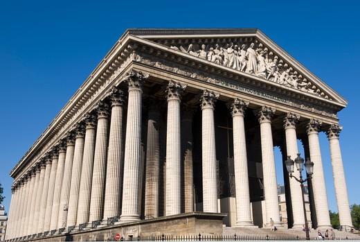 France, Paris, La Madeleine church : Stock Photo