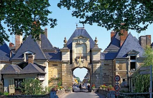 France, Centre, Indre-et-Loire, Richelieu, Chatellerault door : Stock Photo
