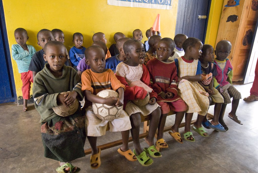 Stock Photo: 1606-113477 Rwanda, Kigarama, L'Esp?rance orphanage