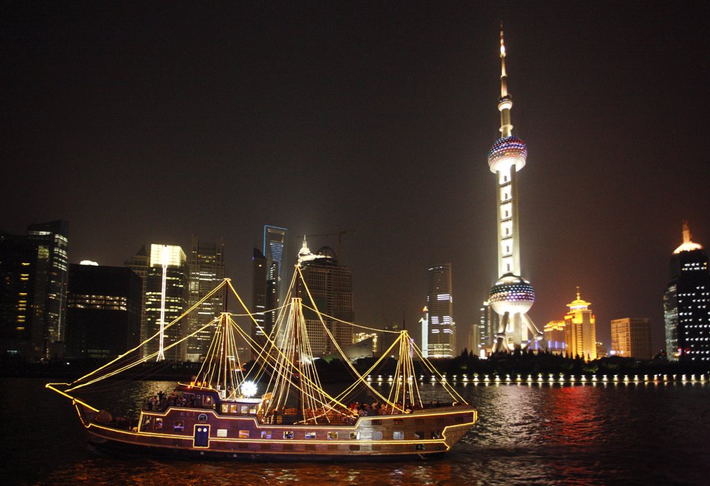 Stock Photo: 1606-113708 China, Shanghai, Pudong district, Oriental Pearl tower