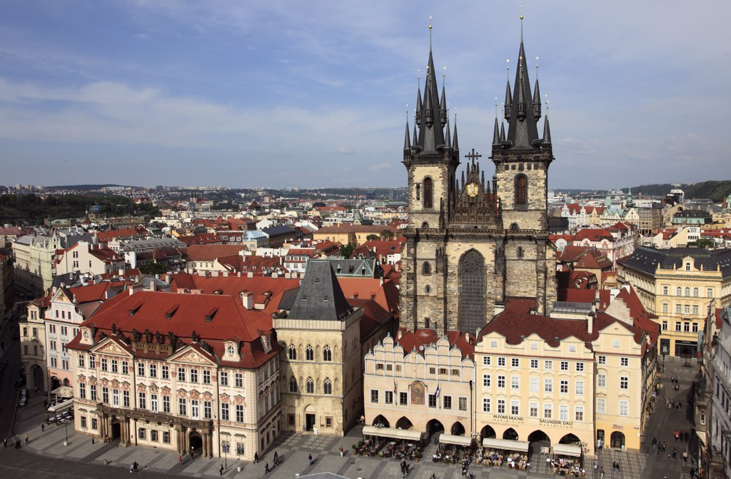 Stock Photo: 1606-114497 Czech Republic, Prague, Old Town Square, Tyn Church