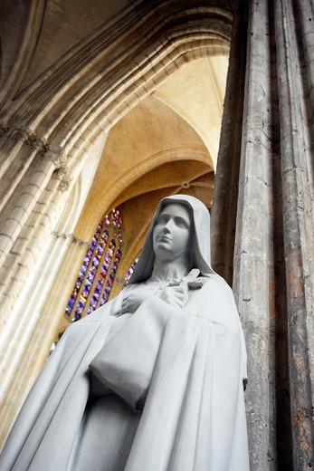 France, Centre, Indre et Loire, Tours, St Gatien cathedral : Stock Photo