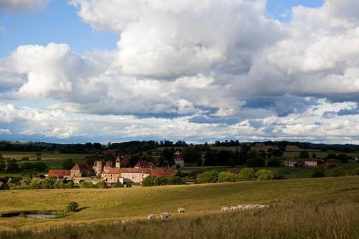 France, Burgundy, Sa?ne et Loire, Oy? : Stock Photo