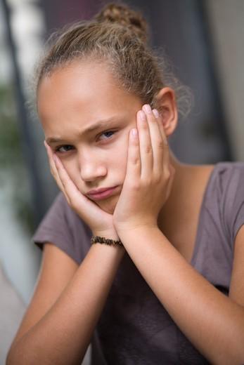 Girl sulking : Stock Photo