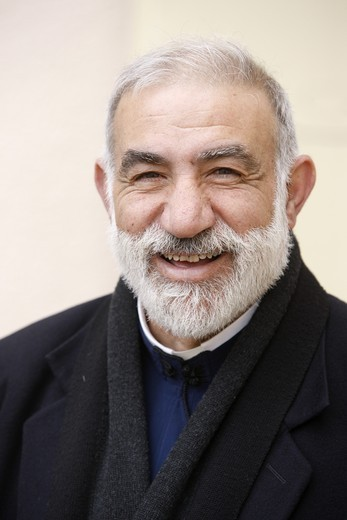 Stock Photo: 1606-118185 Israel, Nazareth, Greek catholic priest Emile Shoufani is a notorious peacemaker. A Palestinian living in Israel (Israeli Arab), he runs several schools in Nazareth