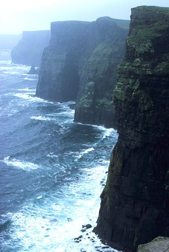 Southern Ireland, Clare, Atlantic Ocean : Stock Photo