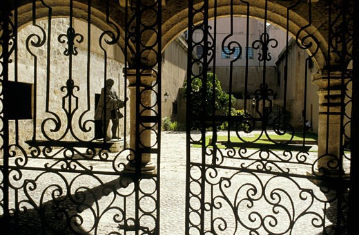 Dominican Republic, Santo Domingo, Las Sasas Reales museum, entrance : Stock Photo