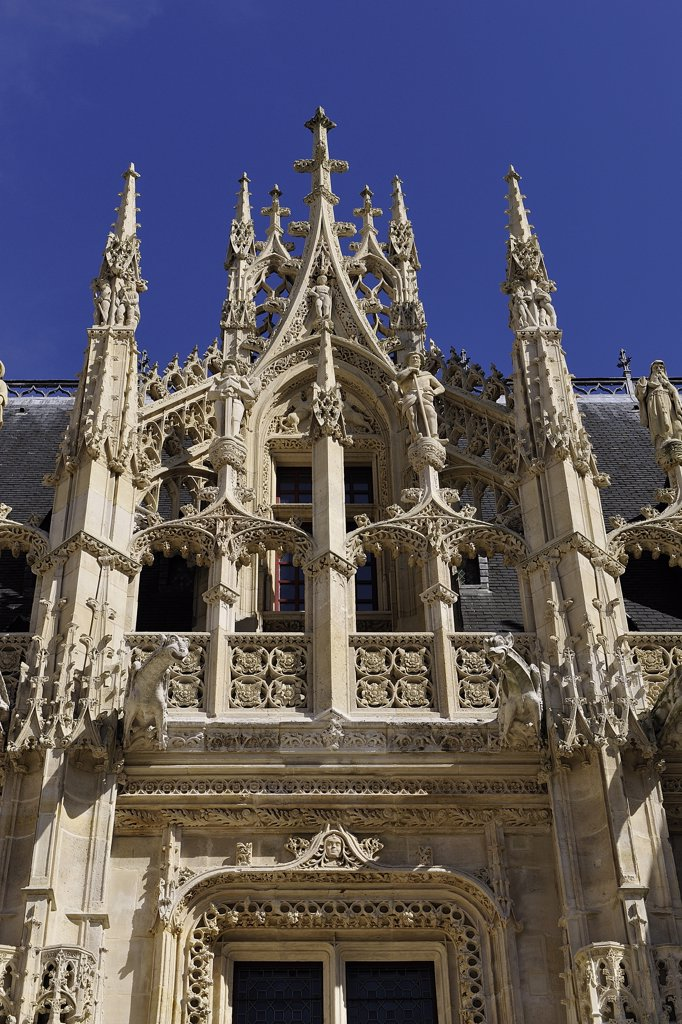 France, Normandy, Seine-Maritime, Rouen, courthouse : Stock Photo