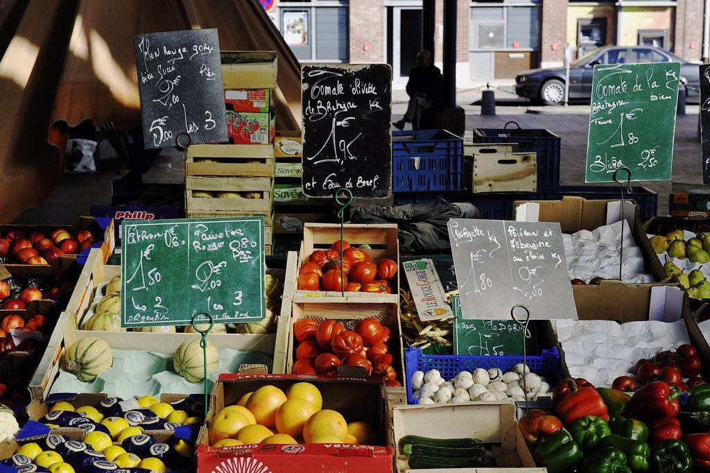 France, market stall : Stock Photo