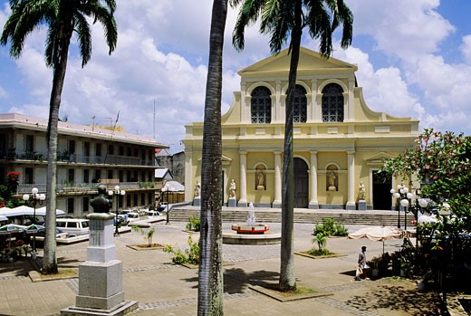 Stock Photo: 1606-11941 West Indies, Guadeloupe, Pointe a Pitre, St Pierre-St Paul basilica