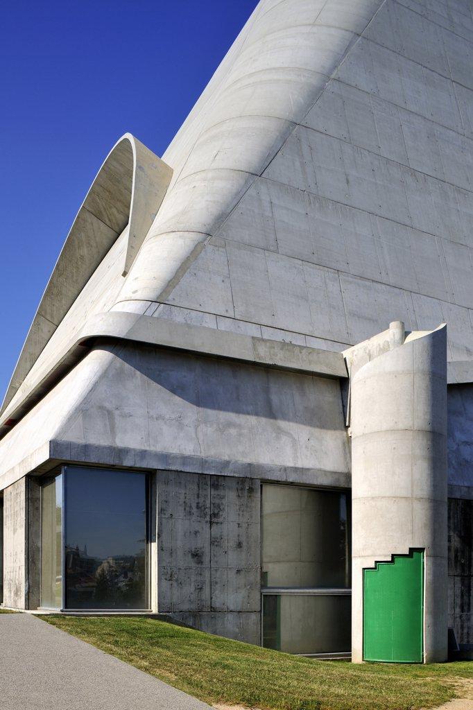 France, Rh?ne-Alpes, Loire, Firminy, Saint-Pierre church (Architect : Le Corbusier) : Stock Photo