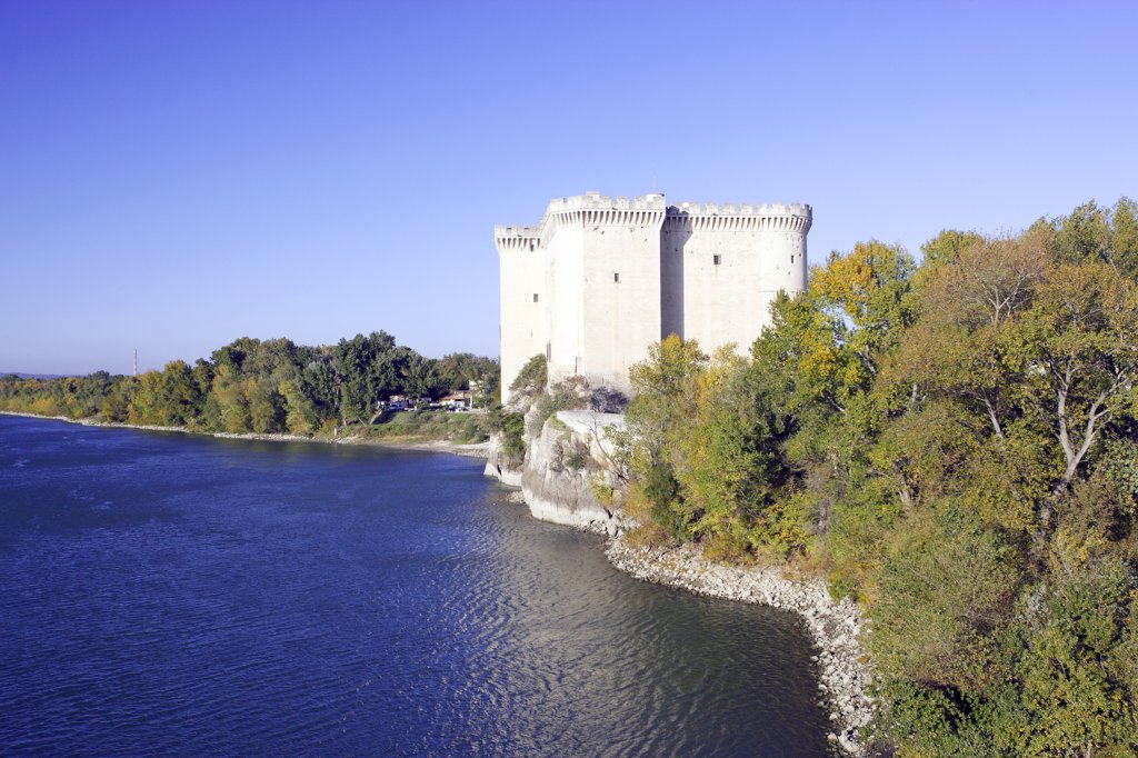 France, Provence, Bouches du Rh?ne, Tarascon castle, river Rh?ne : Stock Photo