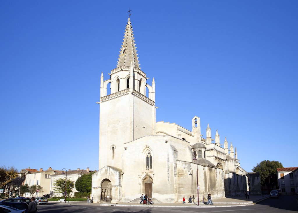 France, Provence, Bouches du Rh?ne, Tarascon, Sainte Marthe collegiate church : Stock Photo