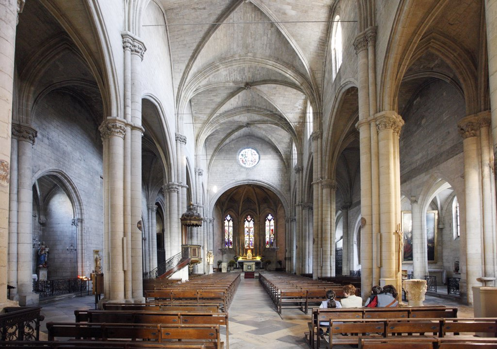 Stock Photo: 1606-120299 France, Provence, Bouches du Rh?ne, Tarascon, Sainte Marthe collegiate church