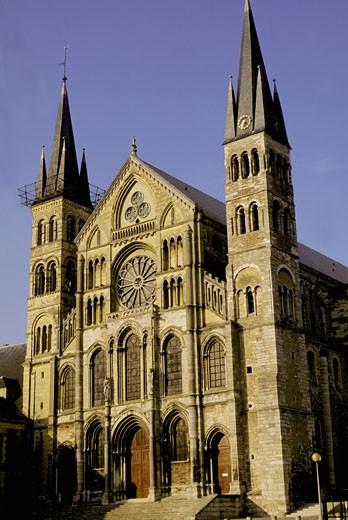 France, Champagne-Ardennes, Marne, Reims, St Rémi basilica : Stock Photo