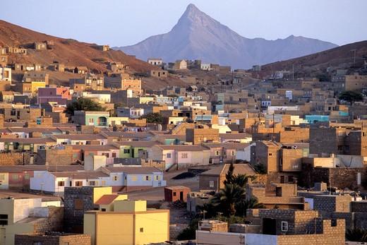 West Africa, Cape Verde (Cabo Verde), Sao Vicente Island, Mindelo, overview : Stock Photo