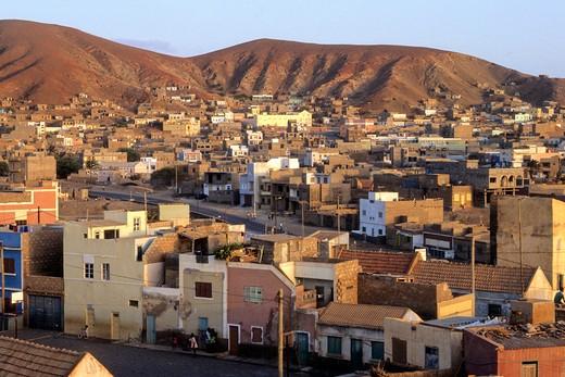 Stock Photo: 1606-122577 West Africa, Cape Verde (Cabo Verde), Sao Vicente Island, Mindelo, overview
