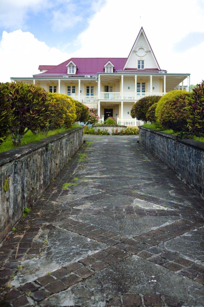 Stock Photo: 1606-123585 French West Indies, Martinique, Trinit?, Petite Rivi?re Sal?e, Domaine Saint Aubin