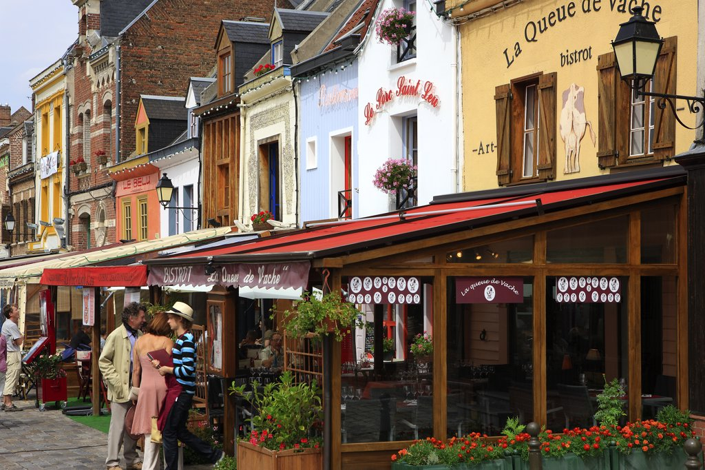 France, Picardie, Somme, Amiens, Saint Leu district : Stock Photo