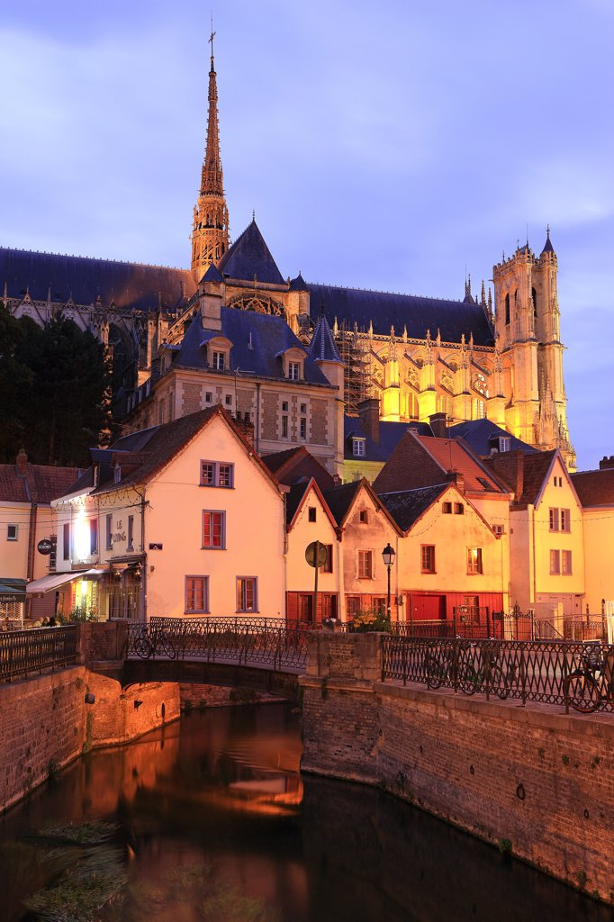 Stock Photo: 1606-124509 France, Picardie, Somme, Amiens, Saint Leu district, Notre Dame cathedral