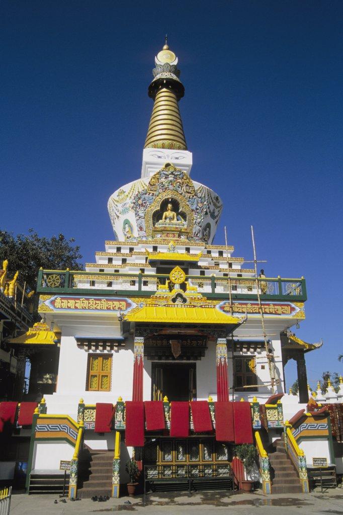 Stock Photo: 1606-124746 India, West Bengal, Siliguri, a new tibetan buddhist stupa