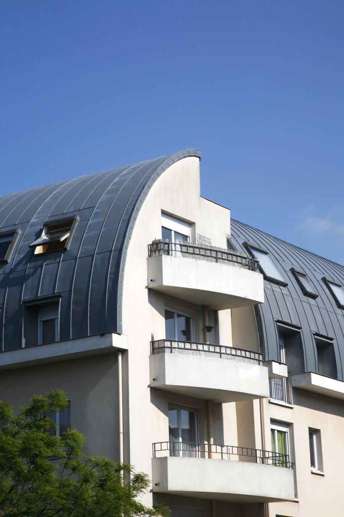 France, Paris-Ile de France, Val d'Oise, Cergy Pontoise, Cergy, Les hauts de Cergy district (or Cergy le haut) : Stock Photo