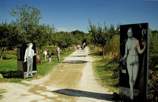 France, Alsace, Haut rhin, Alsace ecomuseum, Eden garden : Stock Photo