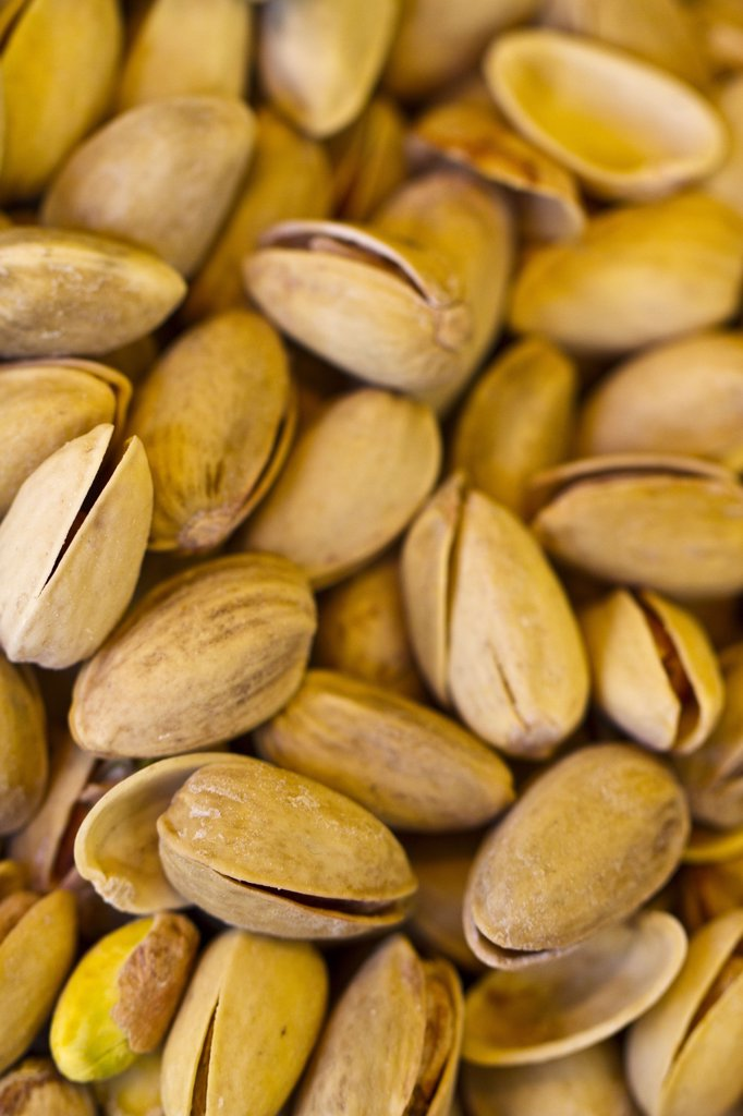 Stock Photo: 1606-125607 Close-up of pistachios