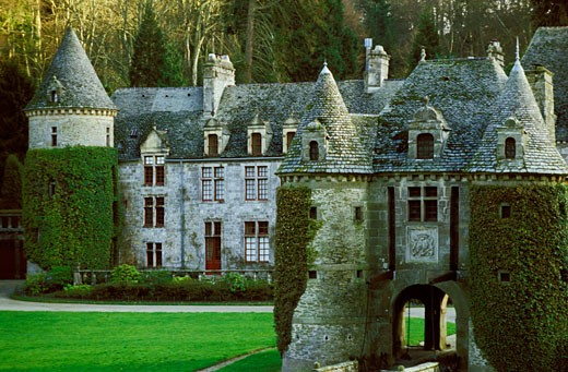 France, Normandy, Nacqueville, castle (16th century) : Stock Photo