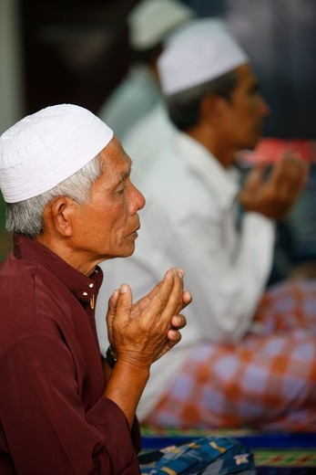 Vietnam, Ho Chi Minh City, The friday prayer.  A congregational prayer (salat) that Muslims hold every Friday. Vietnam. : Stock Photo