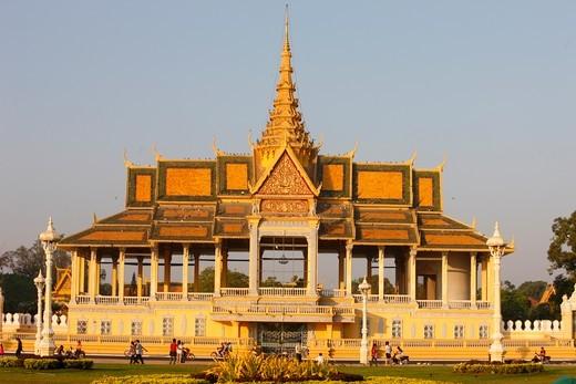 Cambodia, Phnom Penh, The Royal Palace of Phnom Penh.  Chan Chaya Pavilion.  Cambodia. : Stock Photo