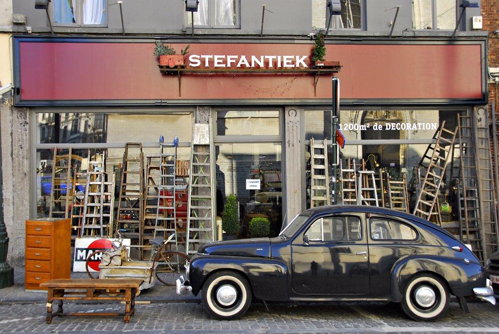 Belgium, Brussels, Antics shop : Stock Photo
