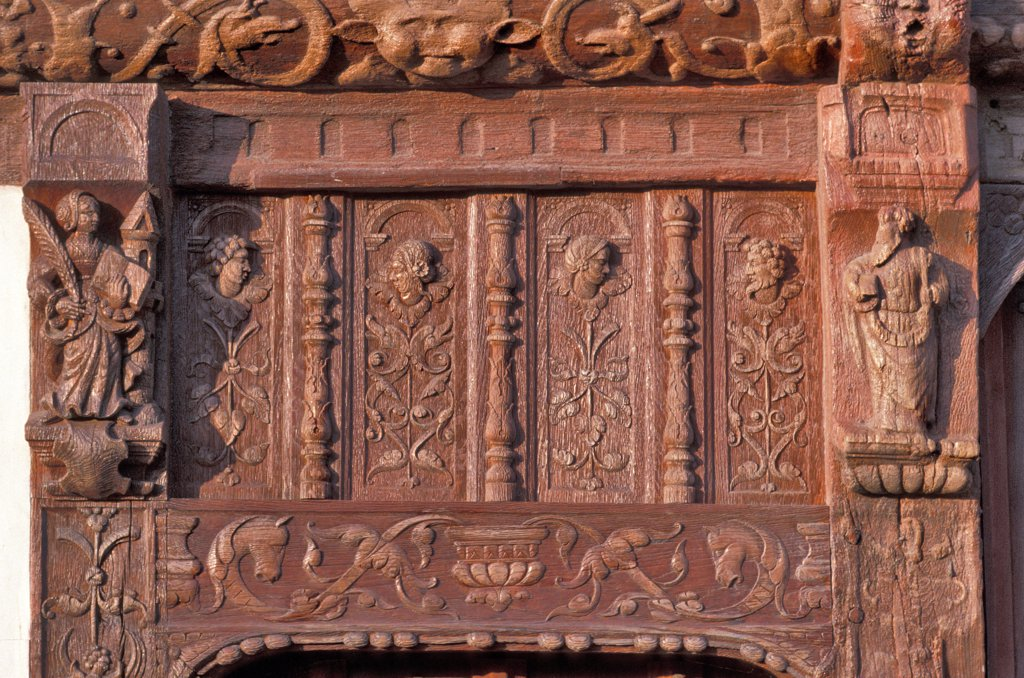 France, Normandy, Seine-Maritime, Saint-Valery-en-Caux, house of Henry IV : Stock Photo