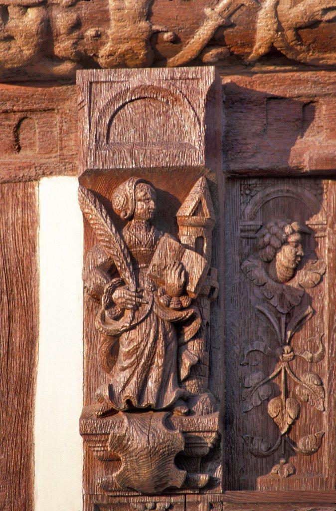 Stock Photo: 1606-128494 France, Normandy, Seine-Maritime, Saint-Valery-en-Caux, house of Henry IV