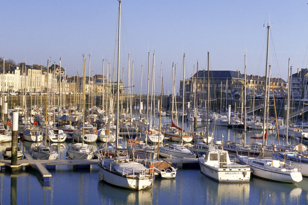 Stock Photo: 1606-128495 France, Normandy, Seine-Maritime, Saint-Valery-en-Caux, harbour
