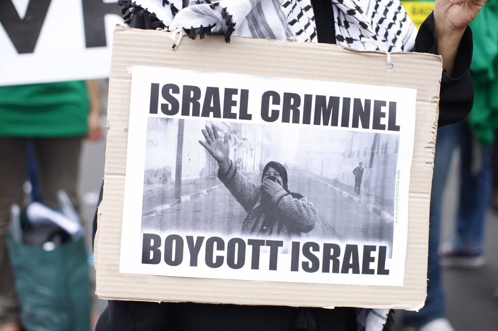 France, Paris. Demonstration against Israel France. May 2010 : Stock Photo