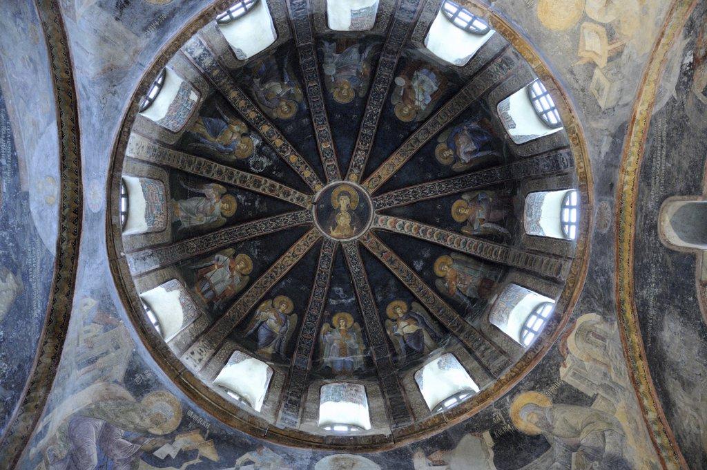 Turkey, Istanbul, Istanbul. Dome of 11-th century Saint Saviour in Chora church (Kariye Camii)  Turkey. : Stock Photo