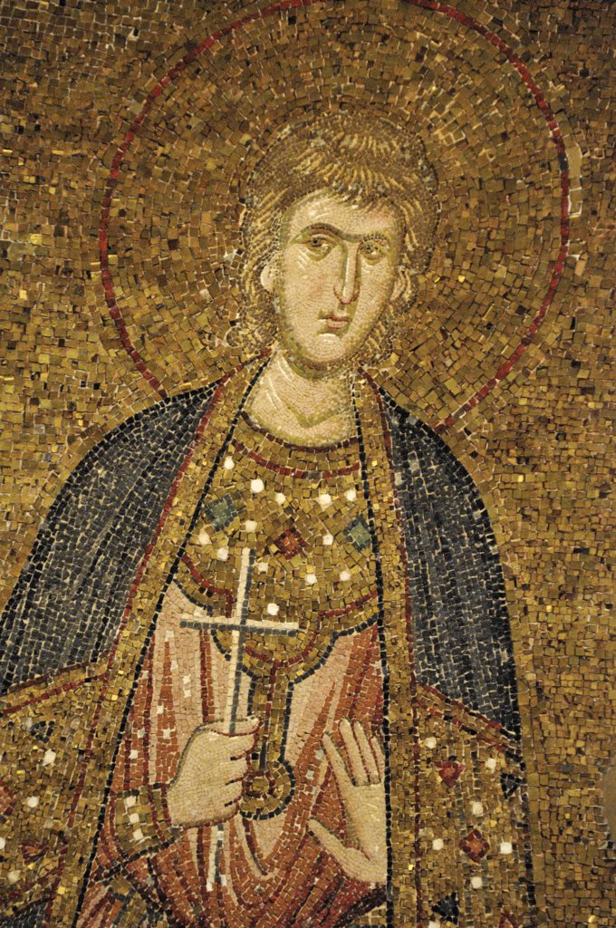 Turkey, Istanbul, Istanbul. Mosaic in 11-th century Saint Saviour in Chora church (Kariye Camii)  Turkey. : Stock Photo