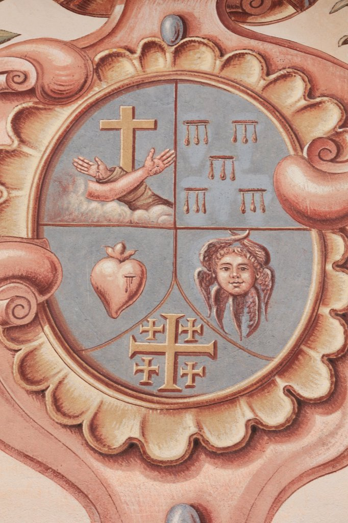 Stock Photo: 1606-129697 France, Alpes Maritimes, Saorge. Monastery of Saorge. Christian symbols France.