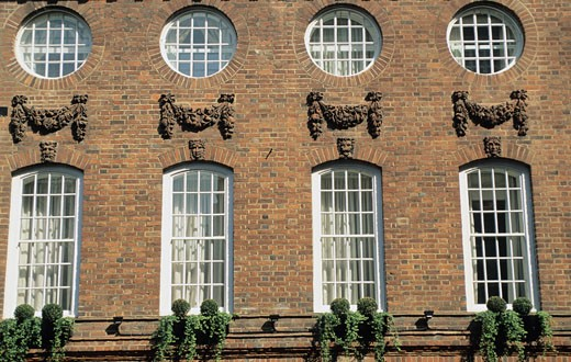 Stock Photo: 1606-12991 England, London, Mayfair, building detail facade