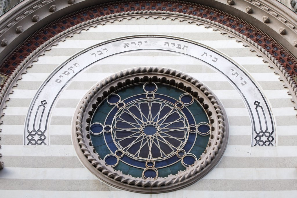 Stock Photo: 1606-130279 Italy, Piedmont, Turin. Great synagogue of Turin Italy.