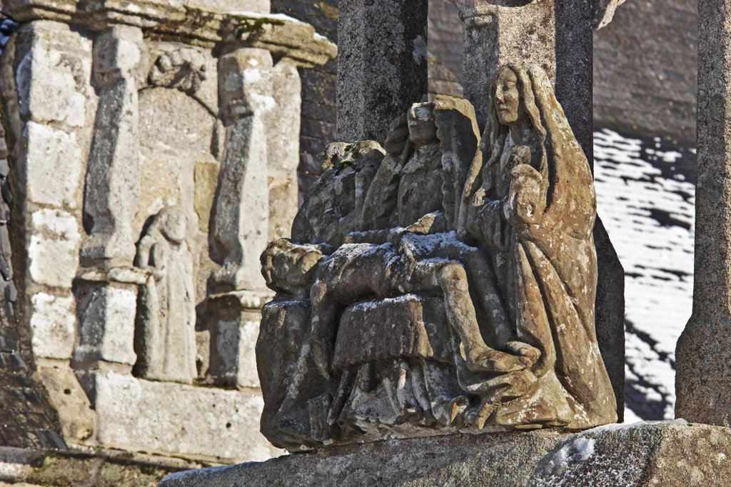 Stock Photo: 1606-130844 France, Brittany, Finistère, St Hernin calvary