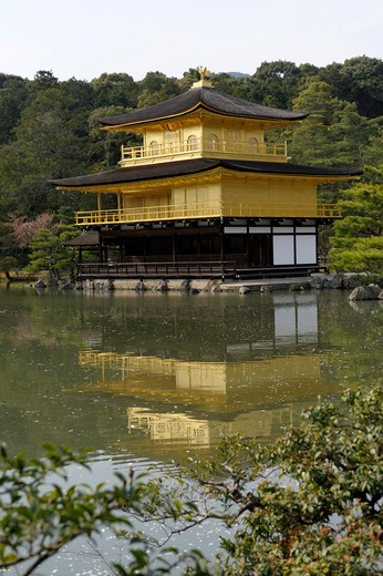 Japan, Kyoto, Kinkaku-ji (Temple of the Golden Pavilion) : Stock Photo
